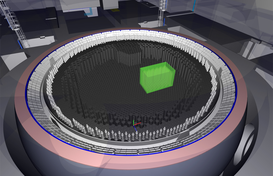 Graphite brick retrieval simulation